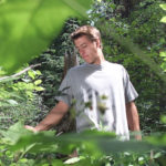 John Hoar, 22, searching for his sister by him self, through thick bush by Gravelpit Lake near Telachick, 33 KM east of Prince George