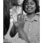 Girls clapping hands