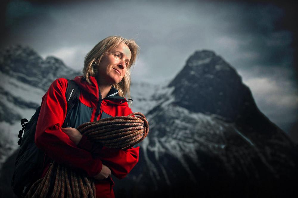 Climber Sharon Wood photo